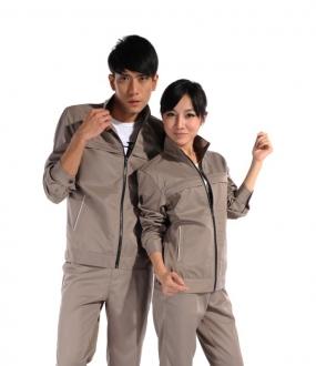 灰色纯棉长袖工作服